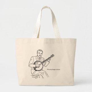 Playing Banjo Is Keen Large Tote Bag