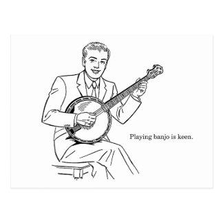 Playing Banjo Is Keen Postcard