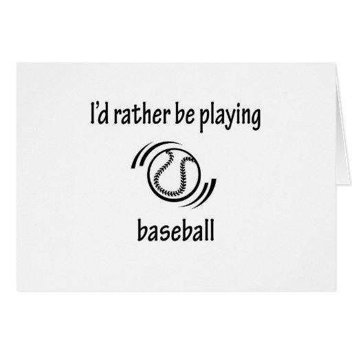 Playing Baseball Greeting Card