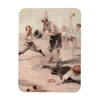 Playing Baseball Magnet