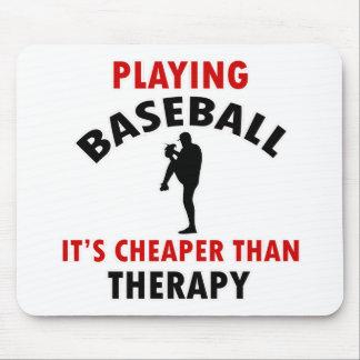playing baseball mouse pad