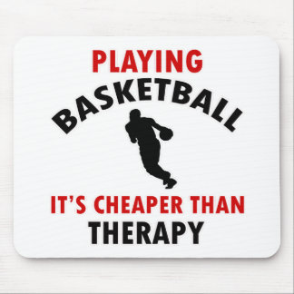 playing basket ball mouse pad