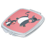 Playing Belted Galloway Cow & Calf Pocket Mirror