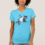 Playing Belted Galloway Cow & Calf Women T-Shirt