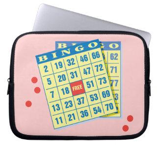 Playing Bingo - Casino Parlor Humor Computer Sleeve