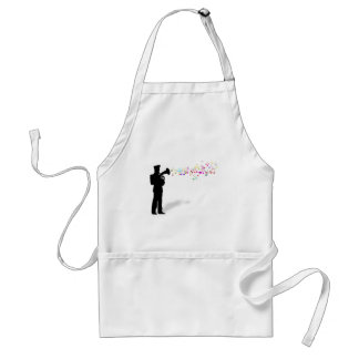 Playing Brass Instrument Adult Apron