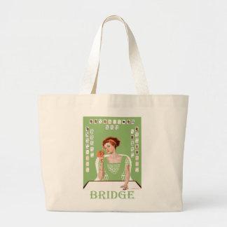 Playing Bridge Jumbo Tote Bag