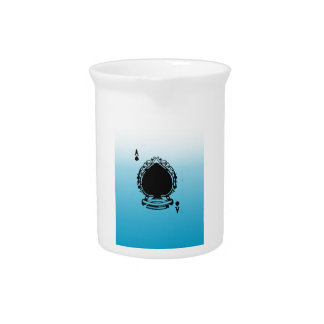 Playing Card Coloring Blue and White Pitcher