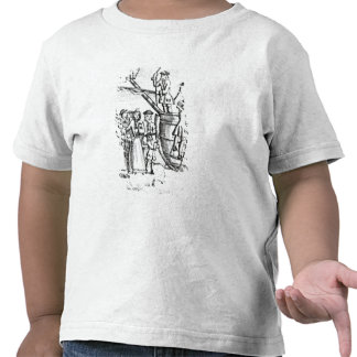 Playing card depicting immigrants arriving t-shirts