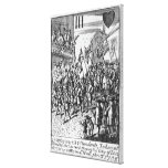 Playing card depicting the Ensigns Stretched Canvas Print