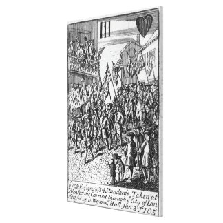 Playing card depicting the Ensigns Canvas Print