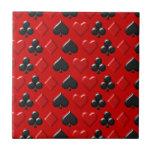 Playing Card Figure Pattern Ceramic Tile