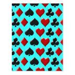 Playing Card Figure Pattern Design Postcards