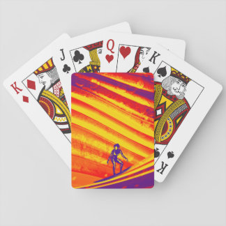 Playing Card Game, Sunset Surfer Design Poker Cards