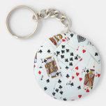 Playing Card games Basic Round Button Keychain