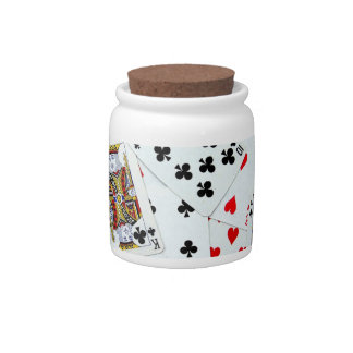 Playing Card games Candy Jars