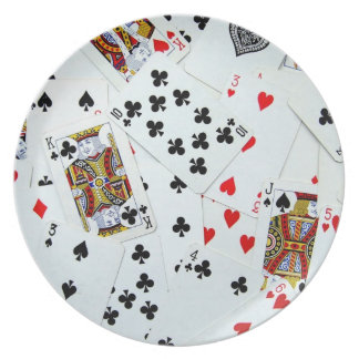 Playing Card Games Melamine Plate