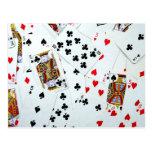 Playing Card games Postcard
