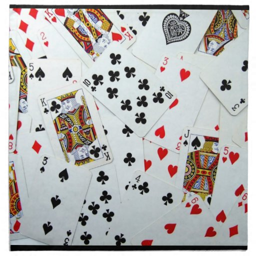 Playing Card games Printed Napkins