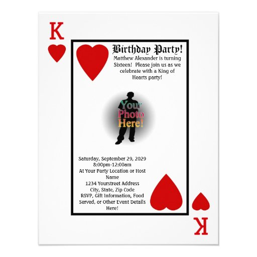 Personalized Playing card Invitations – Playing Card Party Invitations