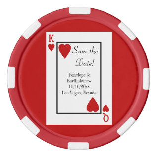 Playing Card King/queen Save The Date Favor Set Of Poker Chips at Zazzle