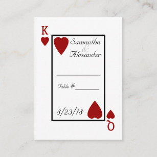 Poker business cards templates zazzle playing card kingqueen table place cards colourmoves Choice Image