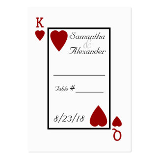 Playing Card King/Queen Table Place Cards Large Business Card