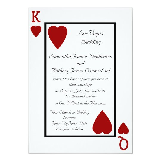 Playing Card KingQueen Wedding Invitations – Playing Card Party Invitations