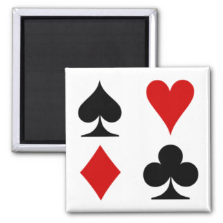 Playing card magnet. magnet