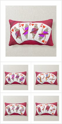 Playing Card Pillows!