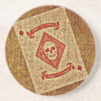 Playing Card Sandstone Coaster