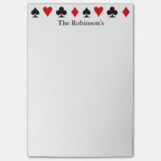 Playing Card Score Pad | Personalized Post-it® Notes