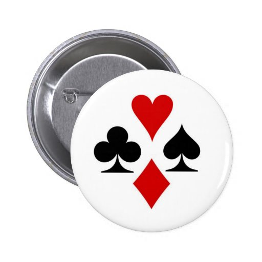 Playing card suit badge buttons
