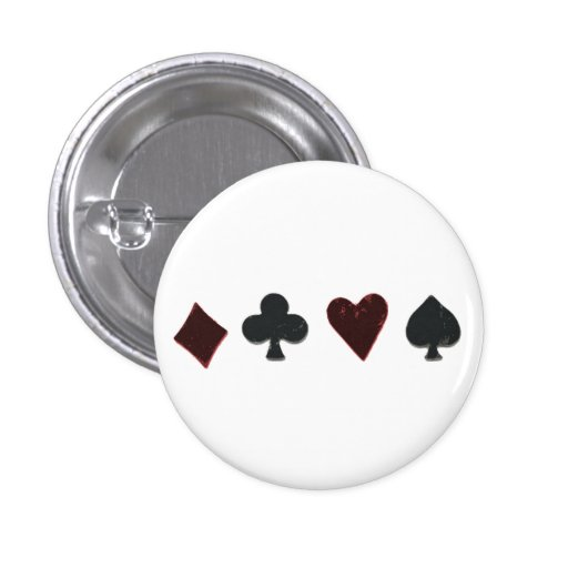 Playing Card Suit Row 1 Inch Round Button