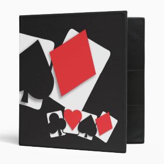 playing card suites binder