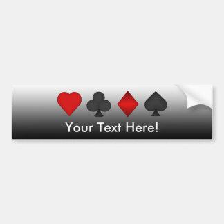 Playing Card Suits: Bumper Sticker Car Bumper Sticker