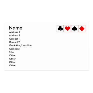 Playing card suits business card