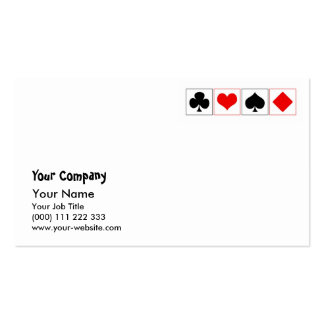 Playing card suits business card templates