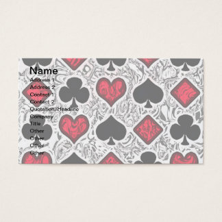 PLAYING CARD SUITS Business Cards