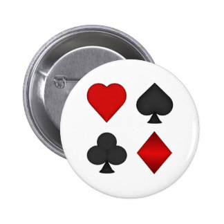 Playing Card Suits: 2 Inch Round Button