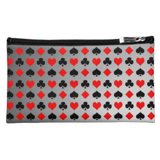 Playing Card Suits Cosmetic Bag
