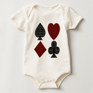 Playing Card Suits Design Baby Bodysuit