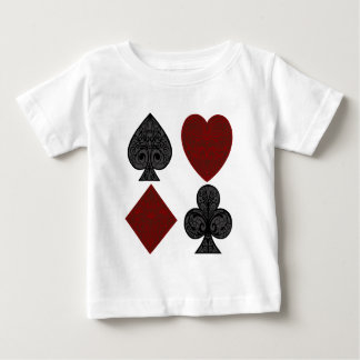 Playing Card Suits Design Baby T-Shirt