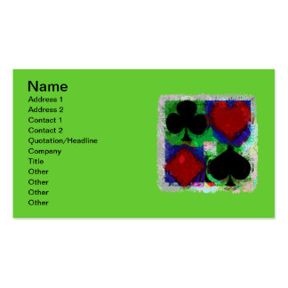 PLAYING CARD SUITS DESIGN Business Cards