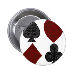 Playing Card Suits Design Button