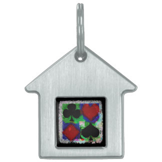 PLAYING CARD SUITS DESIGN PET TAG