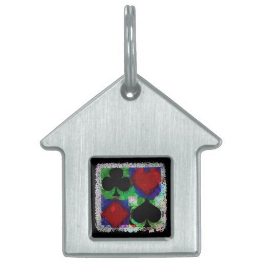 PLAYING CARD SUITS DESIGN PET TAGS