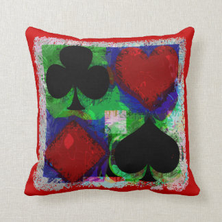 PLAYING CARD SUITS DESIGN Pillow