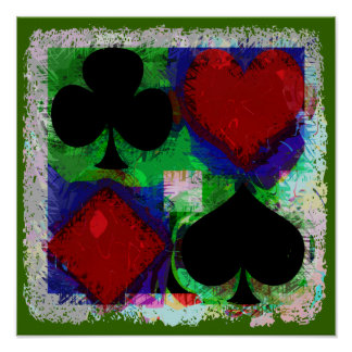 PLAYING CARD SUITS DESIGN Poster