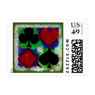 PLAYING CARD SUITS DESIGN Stamp